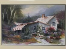 Original watercolor painting by listed Carmel California artist Gull-Britt Rydell