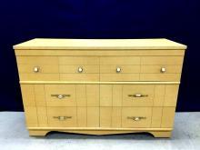 1950s mid century modern blonde wood dresser