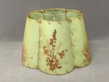 Van Briggle dried flower lamp shade