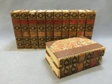 12 volume leather bound set of classic prose; 1902 Francis A. Niccolls & Co. ; Goethe, Schiller