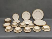 Large lot of Lenox gilded gold porcelain pieces, some are marked.