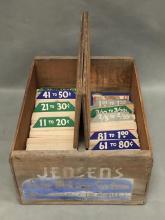 Vintage pricing system cards in original box