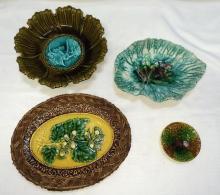 4 Pieces of unique Majolica