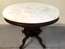 Beautiful oval marble top table