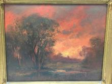 Early Tilden Daken oil on board, 24.5