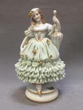 Antique Italian Capodimonte porcelain lady