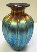 Lundberg Studios Vase, Excellent condition, Sunset, Heart Vase