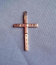 10k gold antique cross pendant