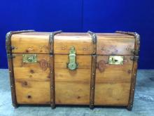 Beautiful antique trunk with great finish and hardware