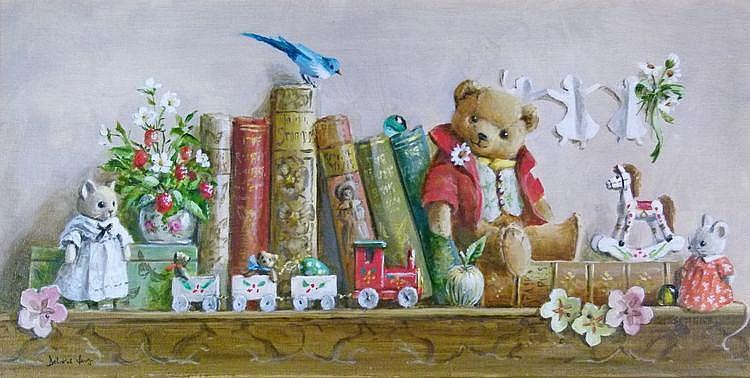Deborah Jones (b.1921) -Oil on canvas - Teddy Bear