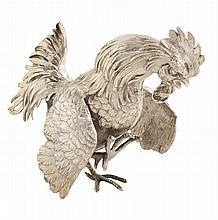 An English silver rooster