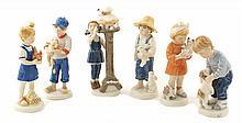 A lot of porcelain figures (5)