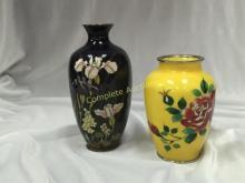 Lot (2) Vintage Cloisonne Vases