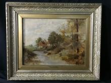 Oil on Canvas Framed Painting
