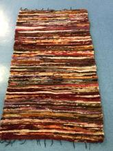 Pink Recycled Material Throw Rug