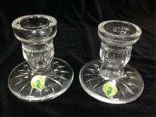 Pair of Waterford Candle Holders