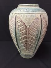 Green and Purple Clay Pottery