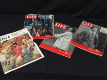 Lot of Vintage Life Magazines