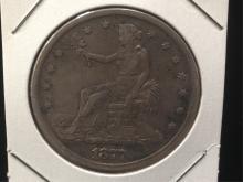 1877 S Trade Silver Dollar Nice Collectible