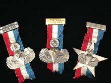 Lot of 3 Airborne Volksmarsch Medals