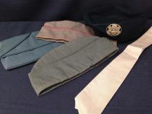 Lot of 4 US Military Caps & 1 Tie - Black Beret, Air Force