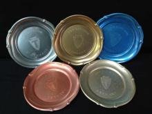 WWII 36th Infantry Army Division Tin Tray Set (5)