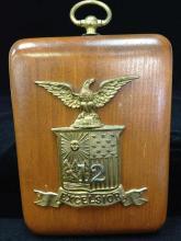 Civil War Excelsior Hat Badge Plate - 12th Brigade.