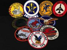 Lot of 10 Tactical Fighter Group Patches - Military - Squadron