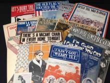 Lot of 20 WWI Era Patriotic Sheet Music