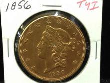 1856 $20 Gold Coin Type I -FANTASTIC GRADE!!!