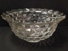 Stunning Fostoria American Crystal Punch Bowl w/Gorham Ladle.