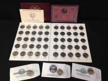 Odd Coin Lot-50 State Quarter Collection (complete), 1994 Uncirculated Bank Set, and (3) additional state quarters