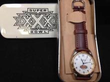 Super Bowl XXX Wrist Watch-Fossil In tin