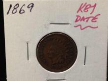 1869 Key Date Indian Head Penny-Nice Coin