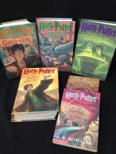 Vintage Lot (6) Harry Potter Books, 6 Volumes.