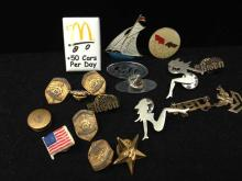 Lot of Assorted Pins/Medals McDonald's and more