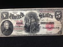 1907 Five Dollar Bill !!! WOW!!!