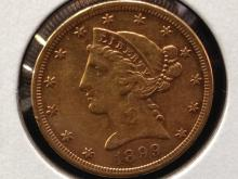 1899 S $5 Liberty Head Gold Coin