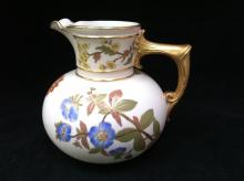 Antique Royal Worcester Porcelain Pitcher #1376.