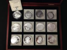 Set of (12) World War II Commemorative Silver Coins