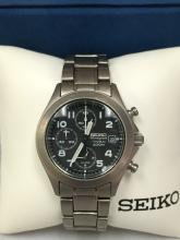 Vintage SEIKO Chronograph Titanium Men's Watch 200M.