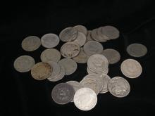 Lot of (26) V Nickels & 4 Buffalo Nickels.