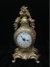 Vintage Ornate Brass Imperial Mantle Clock.