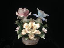 Capodimonte Porcelain Flower Arrangement.