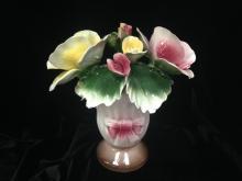 Vintage Capodimonte Porcelain Bud Rose Vase.