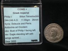 244-249 A.D. Greek Imperial Philip I Coin.