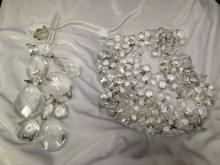 Lot of Hanging Lamp Crystals for