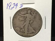 1929 D Walking Liberty Half Dollar Nice Collectible