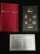 1986 Royal Canadian Mint Proof Set in Box W/Spec sheet