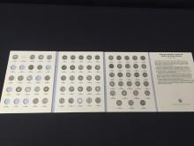 Collection of Mercury Dimes in binder